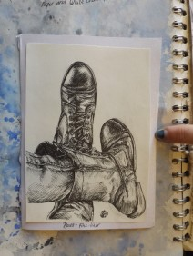 Close up boots sketch