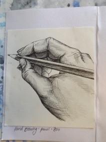 Close up hand sketch