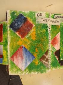 Experimental Oil paint samples
