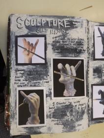 Observational Hand sculpture