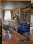 Sitting room oil painting