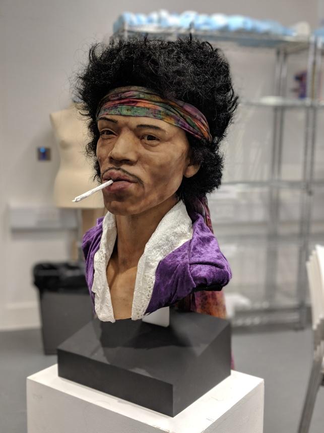 Jimi Hendrix Silicone Bust (2017)