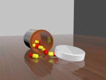 Pill bottle (Rhino & 3DS Max)