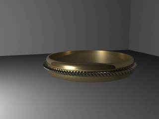 Golden Ring (3DS Max)